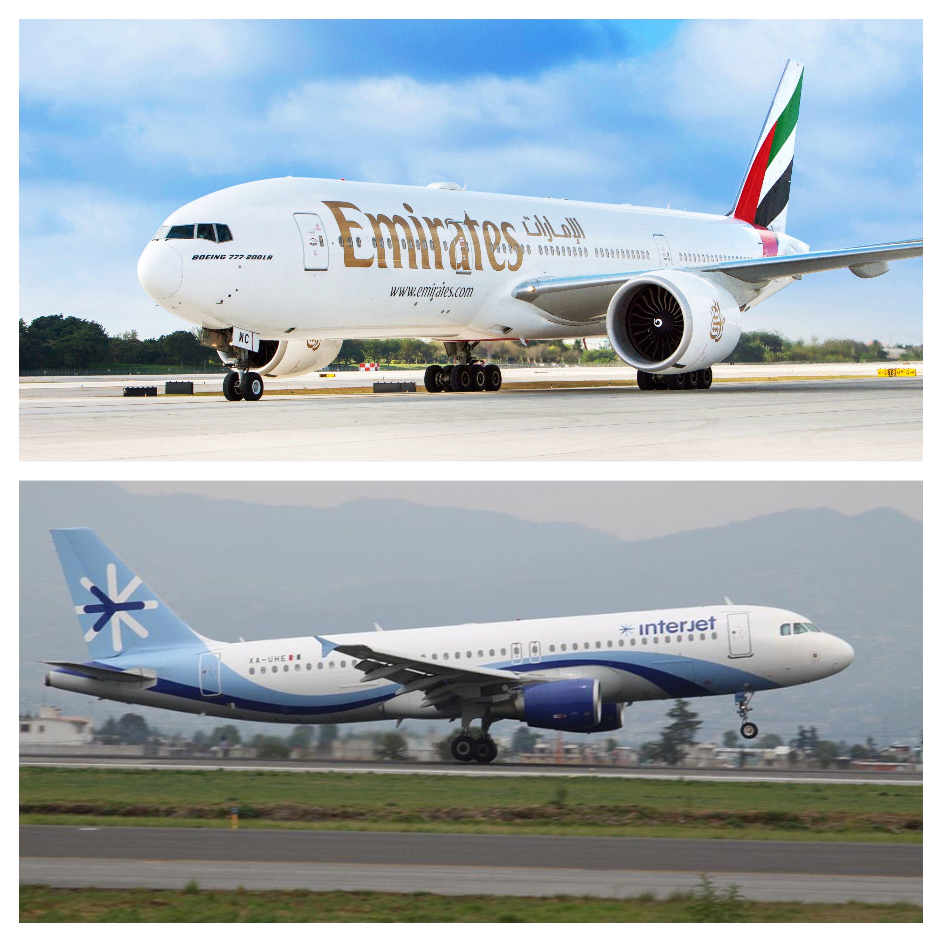 Interjet firma acuerdo de conectividad con Emirates